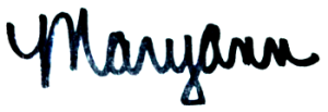 MARYANN SIGNATURE